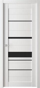 Дверь экошпон Велюкс 04 (Лакобель черный) - фото 37626