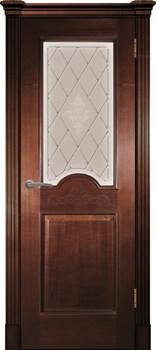 Дверь шпонированная Париж фреза остекленая - фото 38369