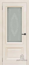 Дверь шпонированная Неаполь-1 остекленная