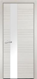 Дверь ПВХ Новелла (Лакобель белый)