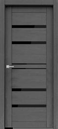 Дверь экошпон Велюкс 01 (Лакобель черный)