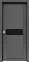 Дверь экошпон Велюкс 02 (Лакобель черный)