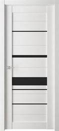 Дверь экошпон Велюкс 04 (Лакобель черный)