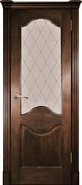 Дверь шпонированная Прованс-4 остекленная