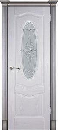 Дверь шпонированная Венера остекленая