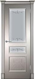 Дверь шпонированная Оливия классика Остекленая